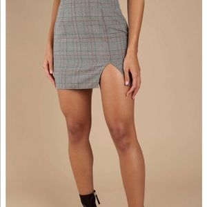 Tobi Plaid Miniskirt